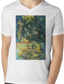Claude Monet - Water Lily Pond 2 Mens V-Neck T-Shirt
