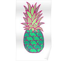 Colorful Pineapple Poster