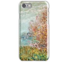 Claude Monet - The Boat Studio On The Seine 1875  iPhone Case/Skin