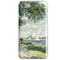 Claude Monet - The Seine At Argenteuil 1875  iPhone Case/Skin