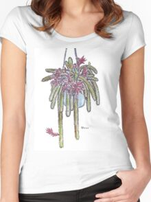 Rattail Cactus sketch Women's Fitted Scoop T-Shirt
