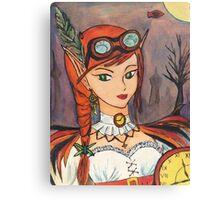 Steampunk Faerie Watercolour Pastel Canvas Print