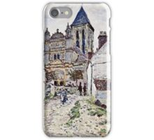 Claude Monet - The Church At Vetheuil 1878  iPhone Case/Skin