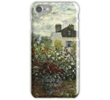 Claude Monet - The Artists Garden In Argenteuil A Corner Of The Garden With Dahlias 1873  iPhone Case/Skin