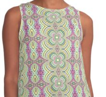 Four Leaf Clover Design - Abstract Contrast Tank
