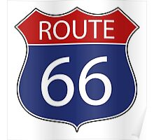 Route 66 Road Sign Poster
