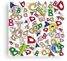 Letters Canvas Print