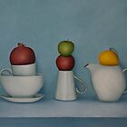 Still life with tea and fruit  by DamienVenditti