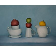 Still life with tea and fruit  Photographic Print