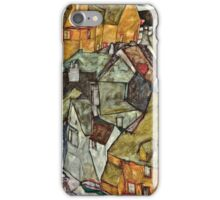 Egon Schiele - Crescent of Houses II (Island Town) (1915)  iPhone Case/Skin