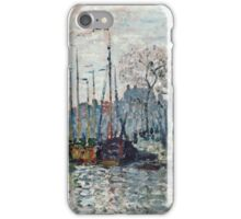 Claude Monet - View of the Prins Hendrikkade and the Kromme Waal in Amsterdam 1874  iPhone Case/Skin