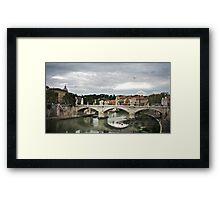 Bridge in Rome Framed Print