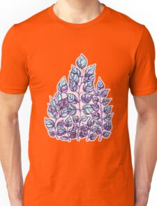 Rose Quartz and Serenity hand drawn and watercolor leaves  Unisex T-Shirt