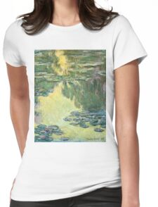 Claude Monet - Waterlilies (1907)  Womens Fitted T-Shirt