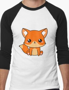 Cute Fox Men's Baseball ¾ T-Shirt