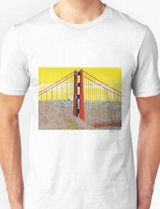 Golden Gate Bridge Cartoon Unisex T-Shirt