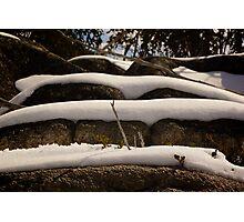 Snow Layers  Photographic Print