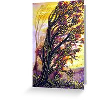 Trees in the Breeze Greeting Card