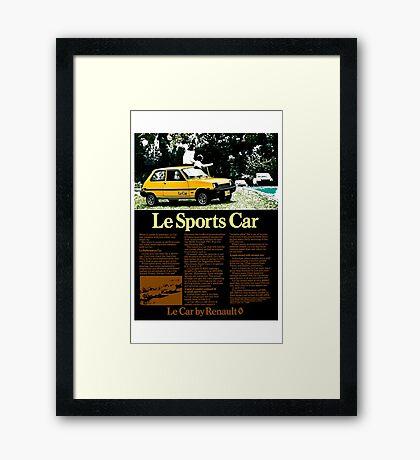 Renault 'Le Sports Car' advert. Framed Print