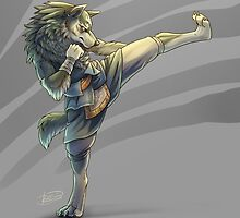Kickboxing Wolf Link by Junryou