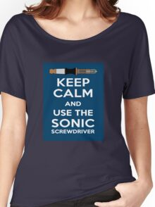 Keep Calm And Use The Sonic Screwdriver! Women's Relaxed Fit T-Shirt