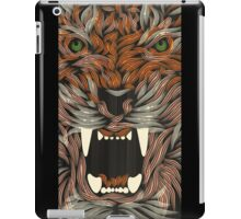 tiger lilly line colour iPad Case/Skin