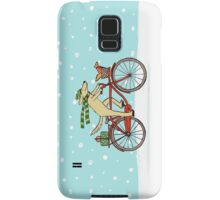 Cycling Dog and Squirrel Holiday Samsung Galaxy Case/Skin