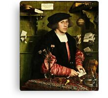 Hans Holbein the Younger - The Merchant Georg Gisze 1532 png Canvas Print