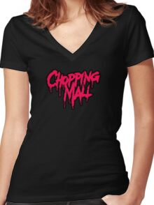 Chopping Mall Women's Fitted V-Neck T-Shirt
