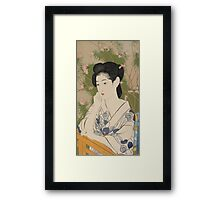 Hashiguchi Goyo - Woman At A Hot Spring Hotel  Framed Print