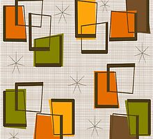 Rectangles and Stars Mid-Century by Gail Gabel, LLC