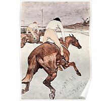 Henri de Toulouse Lautrec -  The Jockey (1899)  Poster