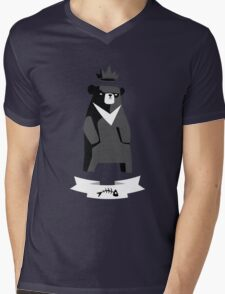 Moon Bear Shirt Mens V-Neck T-Shirt