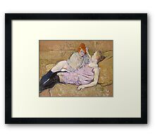 Henri De Toulouse Lautrec The Sofa 1896  Framed Print