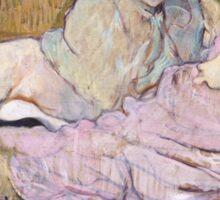 Henri De Toulouse Lautrec The Sofa 1896  Sticker