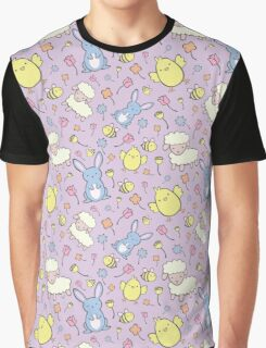 Cute Spring Pattern Graphic T-Shirt
