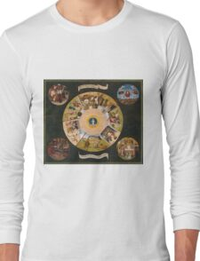 Hieronymus Bosch - The Seven Deadly Sins And The Four Last Things 1485 Long Sleeve T-Shirt