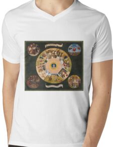 Hieronymus Bosch - The Seven Deadly Sins And The Four Last Things 1485 Mens V-Neck T-Shirt