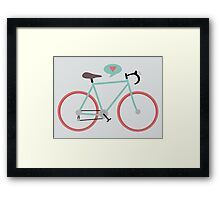 I love cycling Framed Print