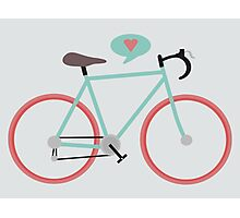 I love cycling Photographic Print