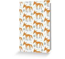 Foxy Pattern Greeting Card