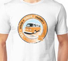 Eat Sleep Drive Repeat orange blue fan grunge Unisex T-Shirt