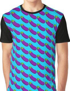Eggplant Emoji Graphic T-Shirt