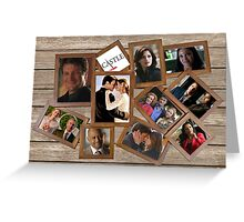 Castle collage frame Greeting Card