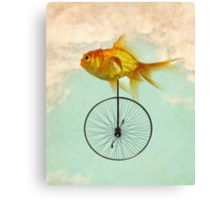 unicycle goldfish Canvas Print