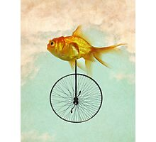 unicycle goldfish Photographic Print