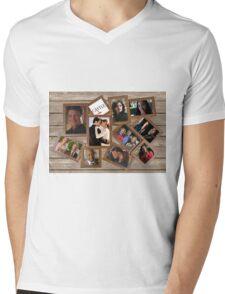 Castle collage frame Mens V-Neck T-Shirt