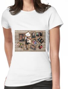 Castle collage frame Womens Fitted T-Shirt