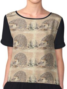 Hedgie, the African Hedgehog Chiffon Top