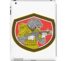 Navy Seal With Armalite Rifle Shield iPad Case/Skin